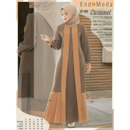 Gamis Endomoda IT 99 Caramel