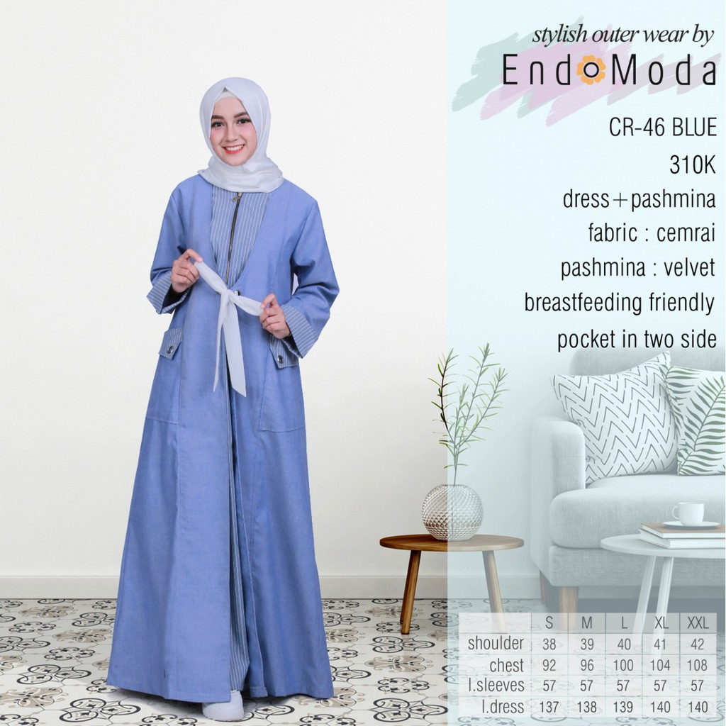 Gamis Endomoda CR 46 Blue