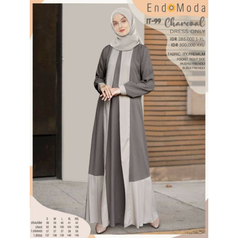 Gamis Endomoda IT 99 Charcoal