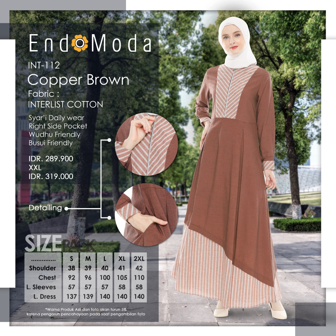 Gamis Endomoda INT 112 Copper Brown