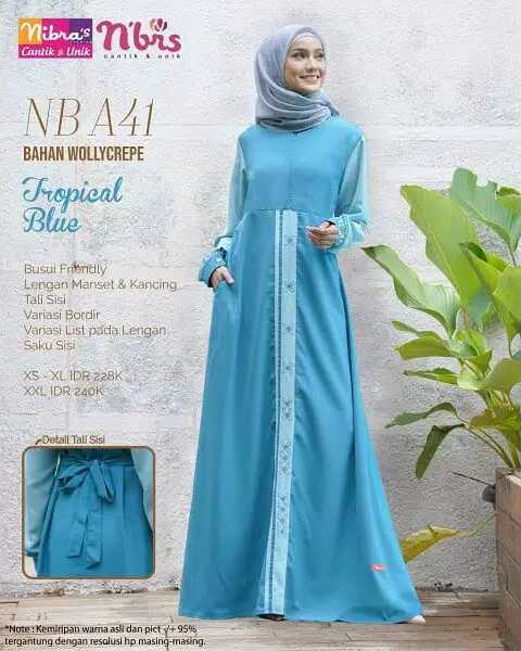 Gamis Nibras NBA 41 Tropical Blue