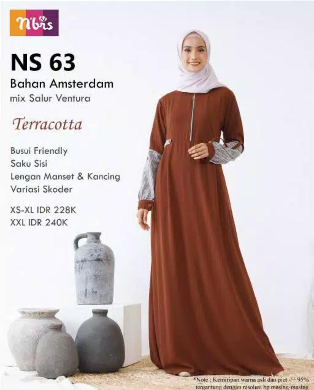 Gamis Nibras NS 63 Teracotta