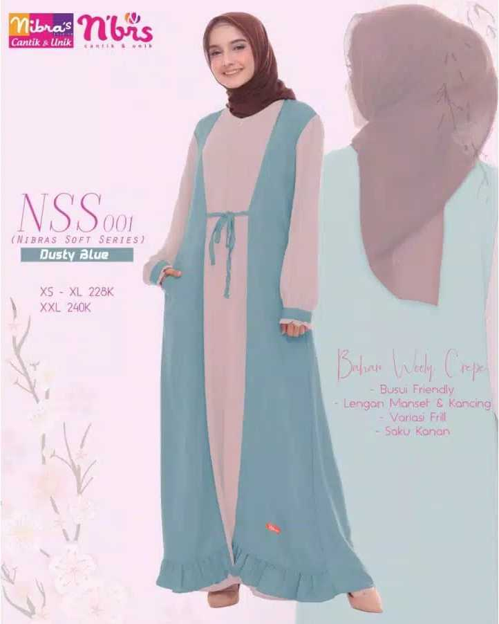 Gamis Nibras NSS 01 Dusty Blue