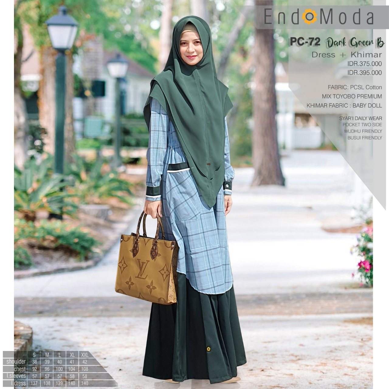 gamis endomoda PC 72 Dark Green