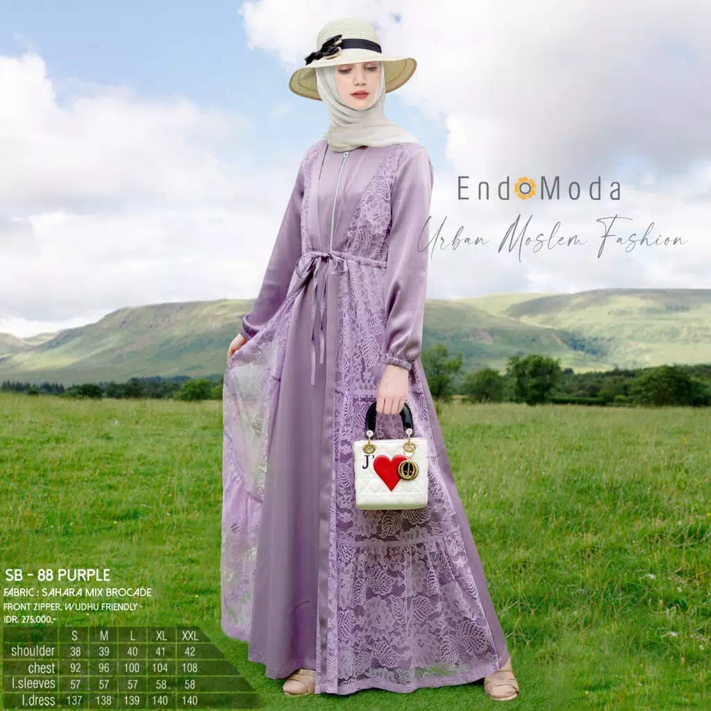 Gamis Endomoda SB 88 Purple