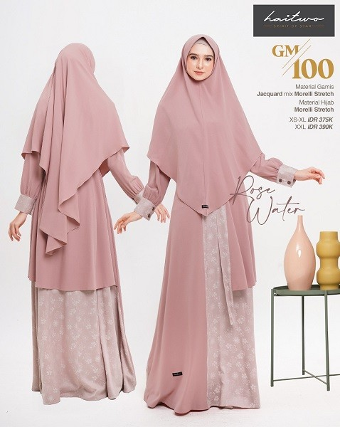 Gamis Haitwo GM 100  Rose Water