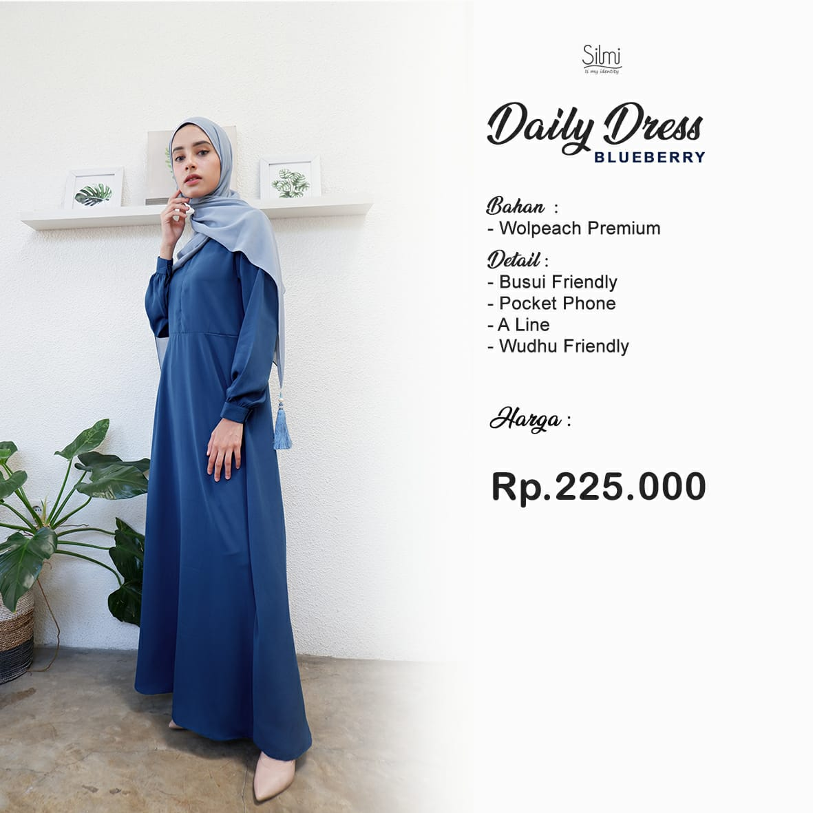 Silmi Daily Dress Wolpeach Blueberry