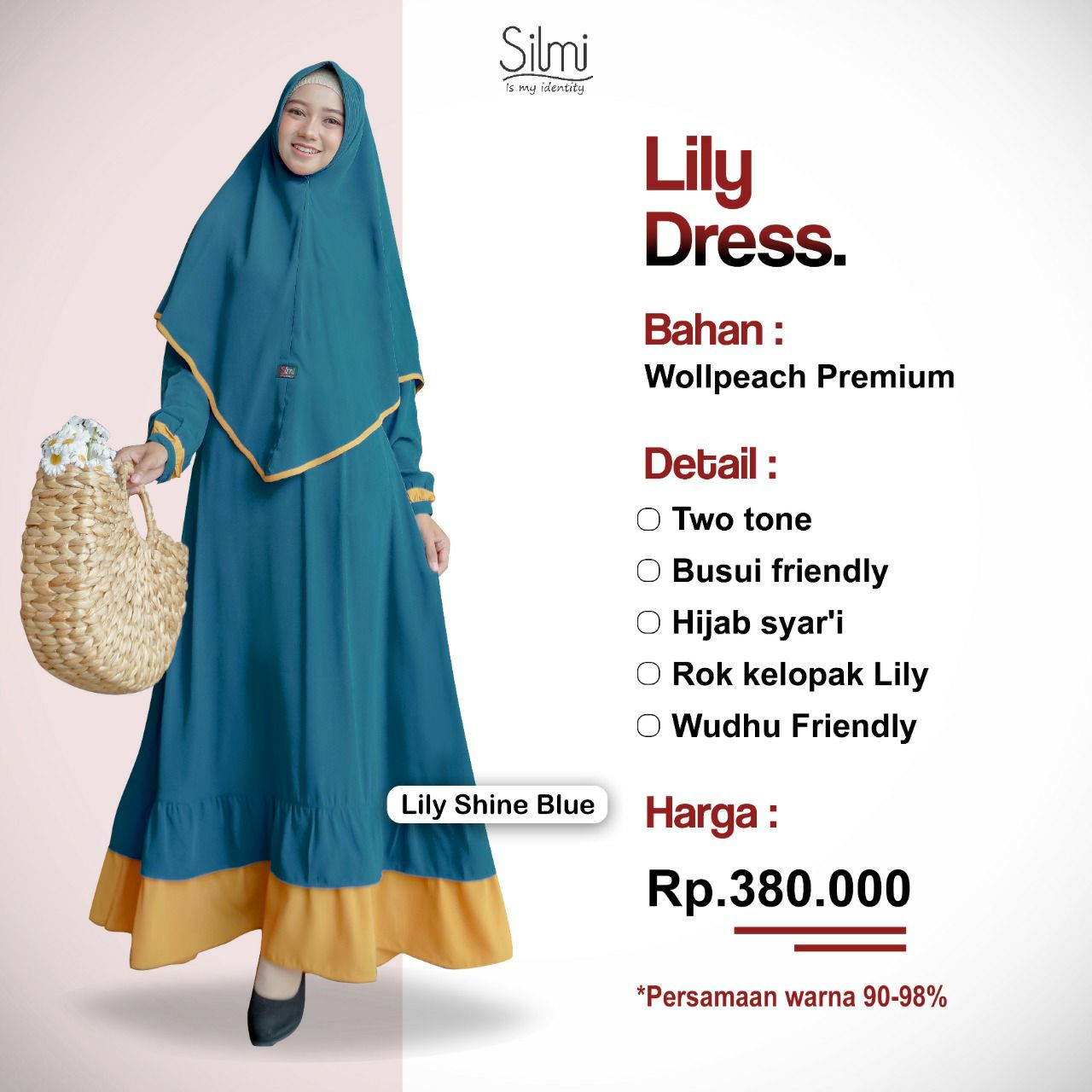 Silmi Lily Dress Shine Blue