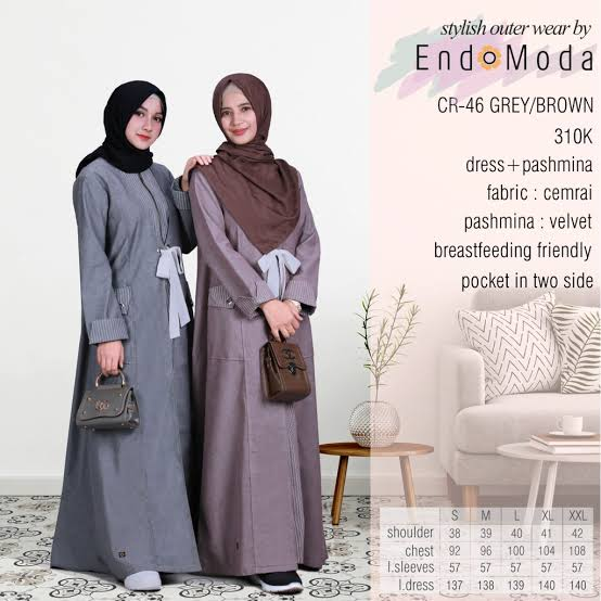 Gamis Endomoda CR 46 Brown