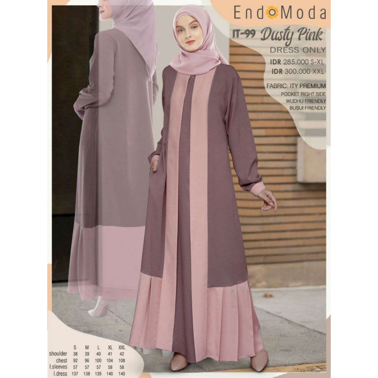 Gamis Endomoda IT 99 Dusty Pink