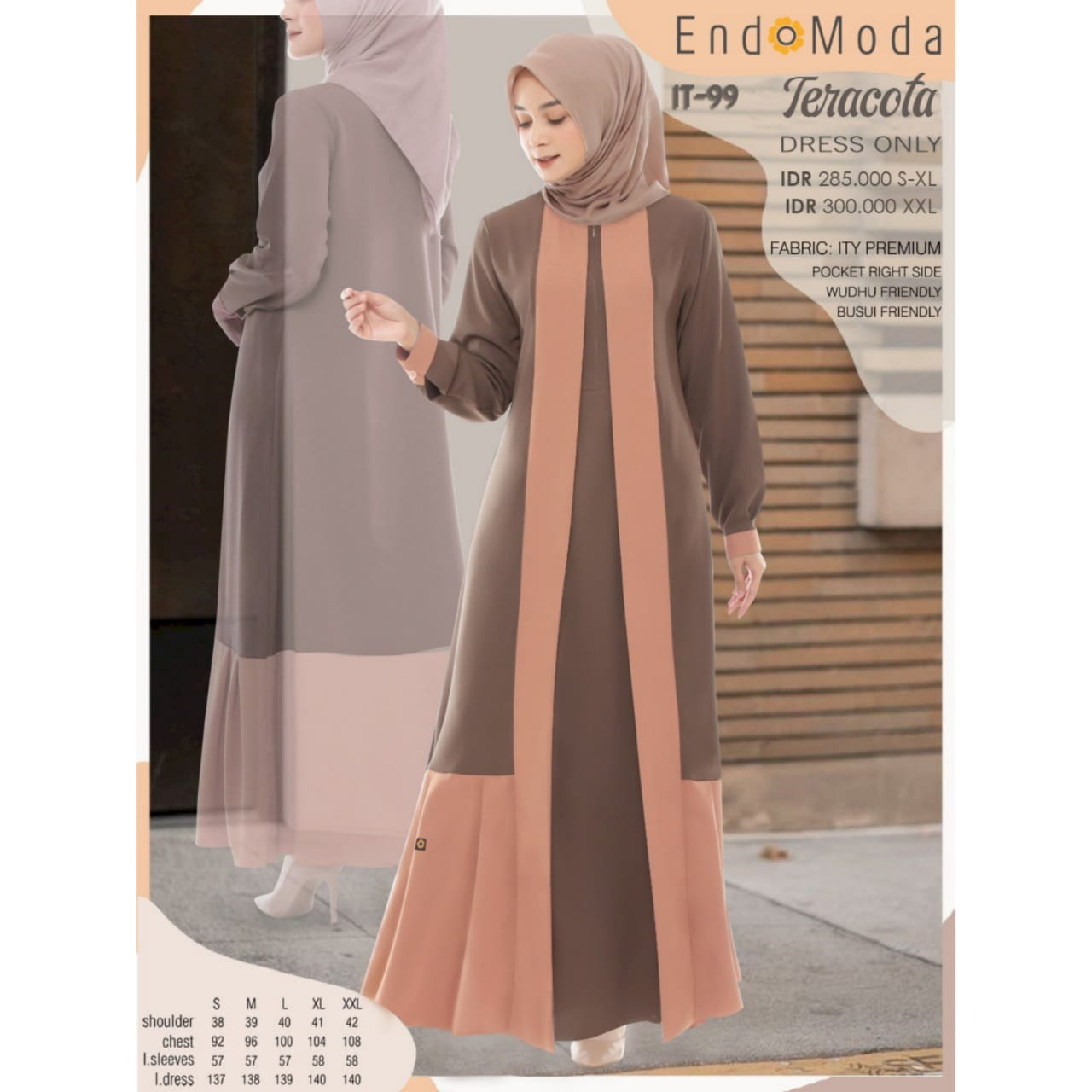 Gamis Endomoda IT 99 Teracotta