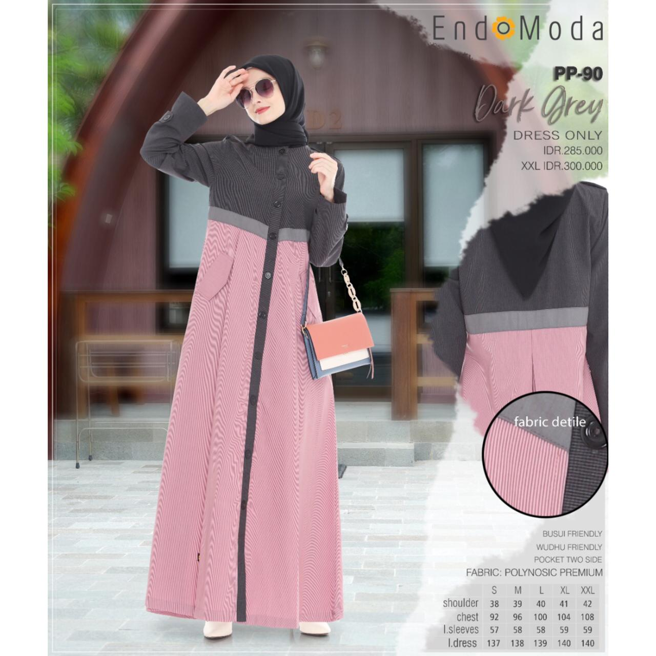 Gamis Endomoda PP 90 Dark Grey