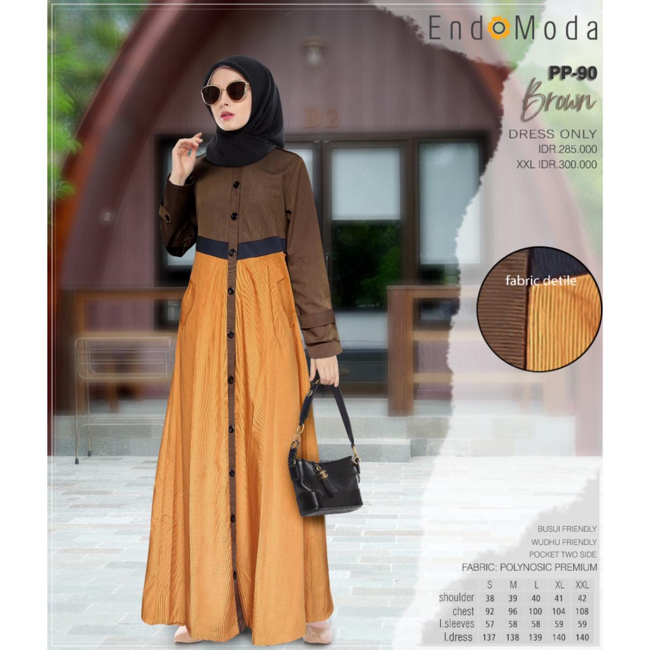 Gamis Endomoda PP 90 Brown