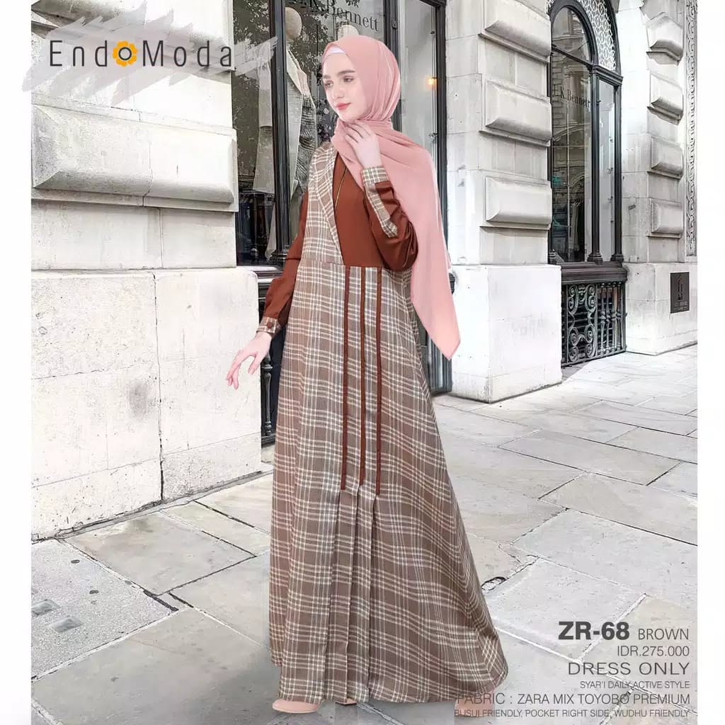 Gamis Endomoda ZR 68 Brown