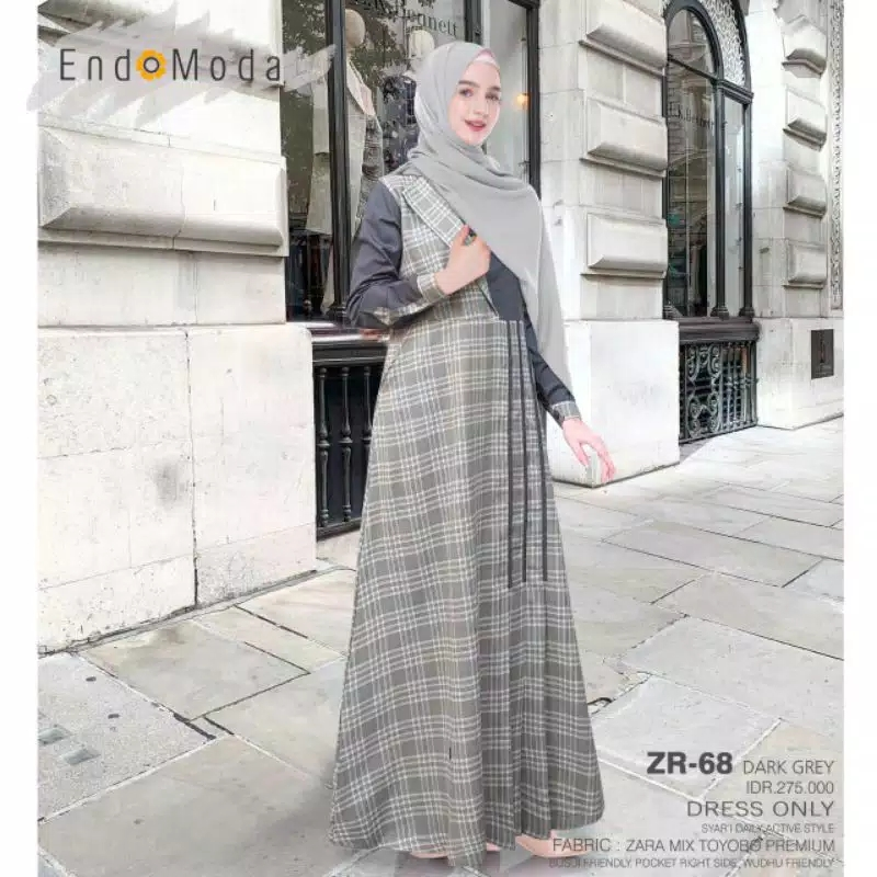Gamis Endomoda ZR 68 Grey