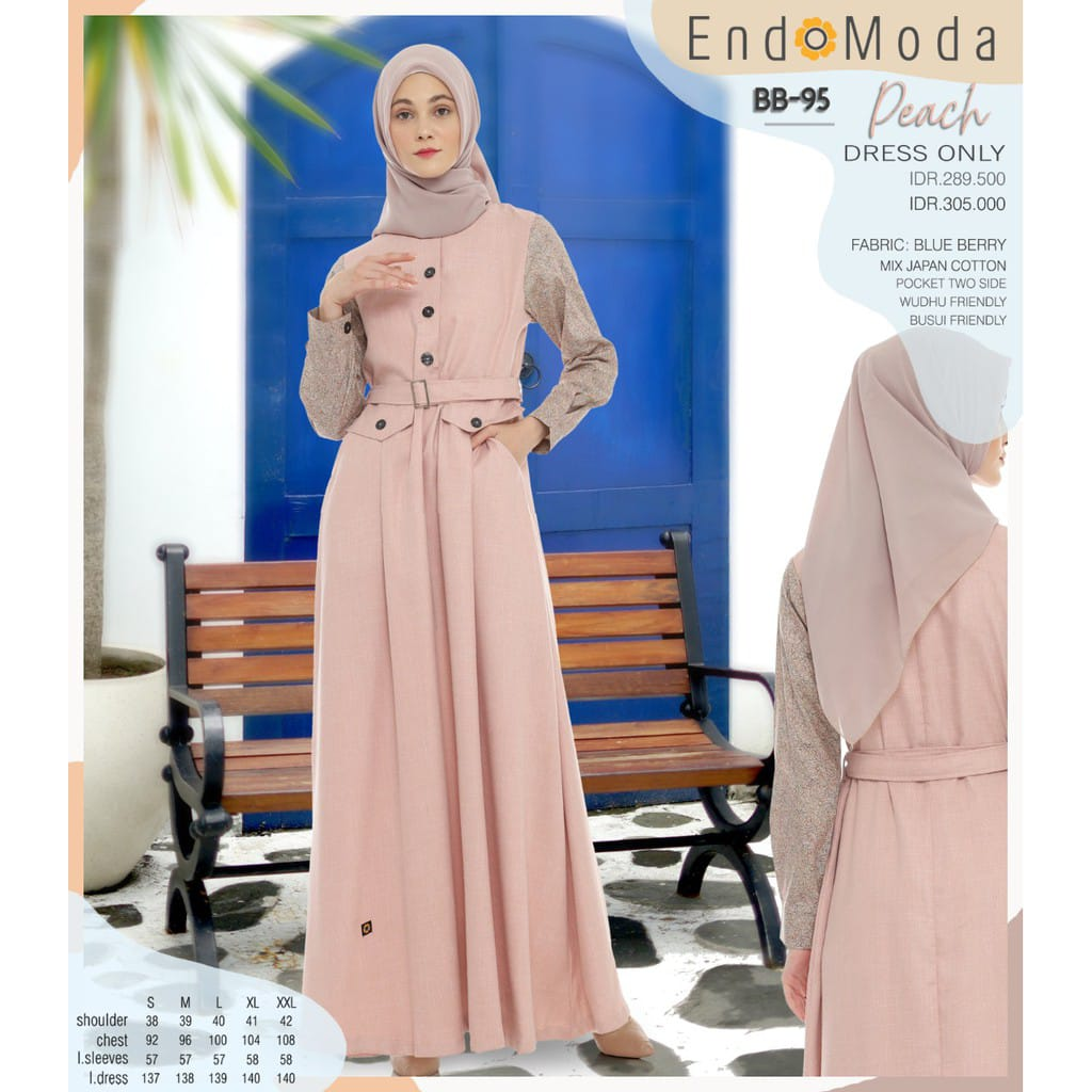 Gamis Endomoda BB 95 Peach
