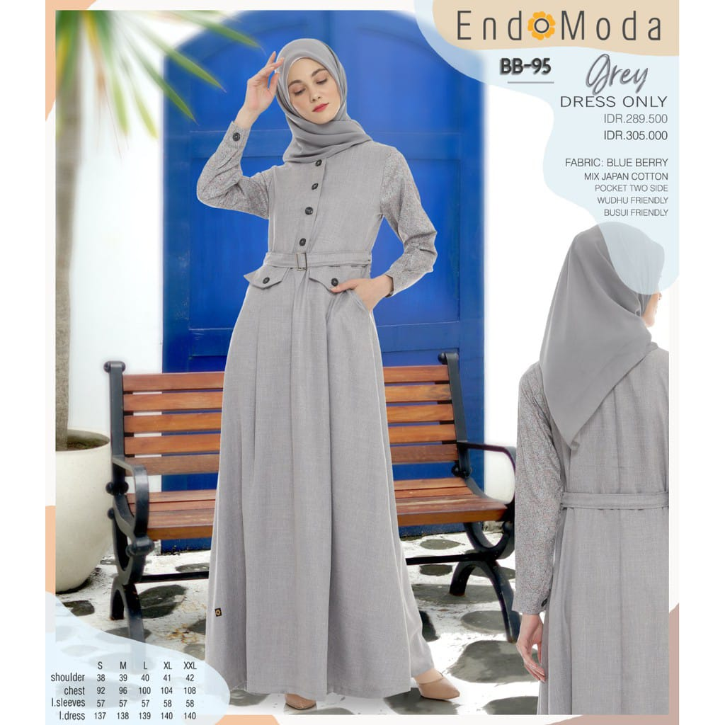 Gamis Endomoda BB 95 Grey