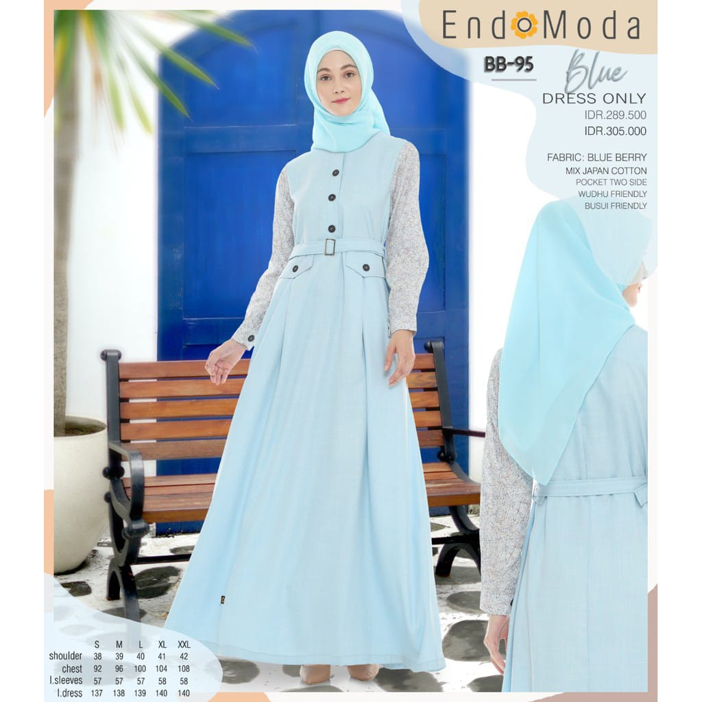 Gamis Gamis Endomoda BB 95 Blue