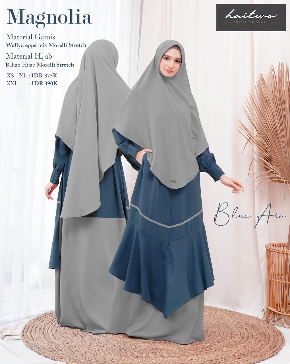 Gamis Haitwo Magnolia Blue Air