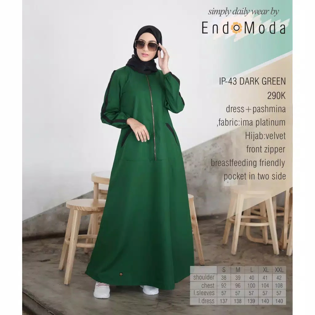 Gamis  Endomoda IP 43 Dark Green