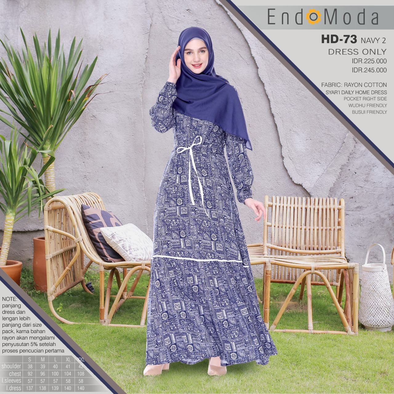 Endomoda HD 73 Dayak Navy 2