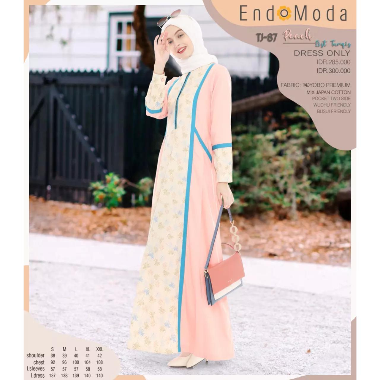 Gamis Endomoda TJ 87 Peach List Tosca