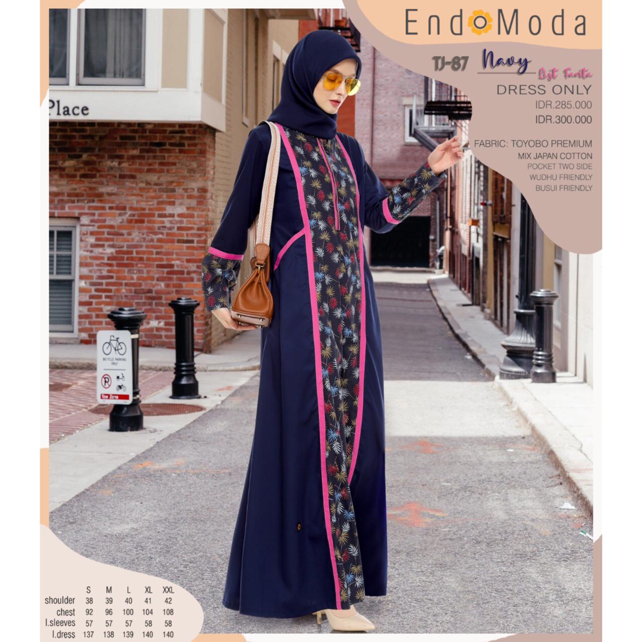 Gamis Endomoda TJ 87 Navy List Fanta