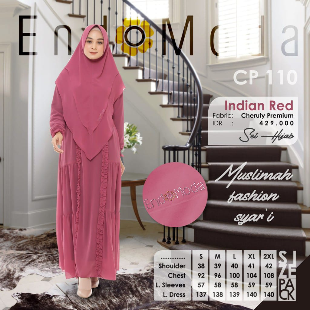 Gamis Endomoda CP 110 Indian Red