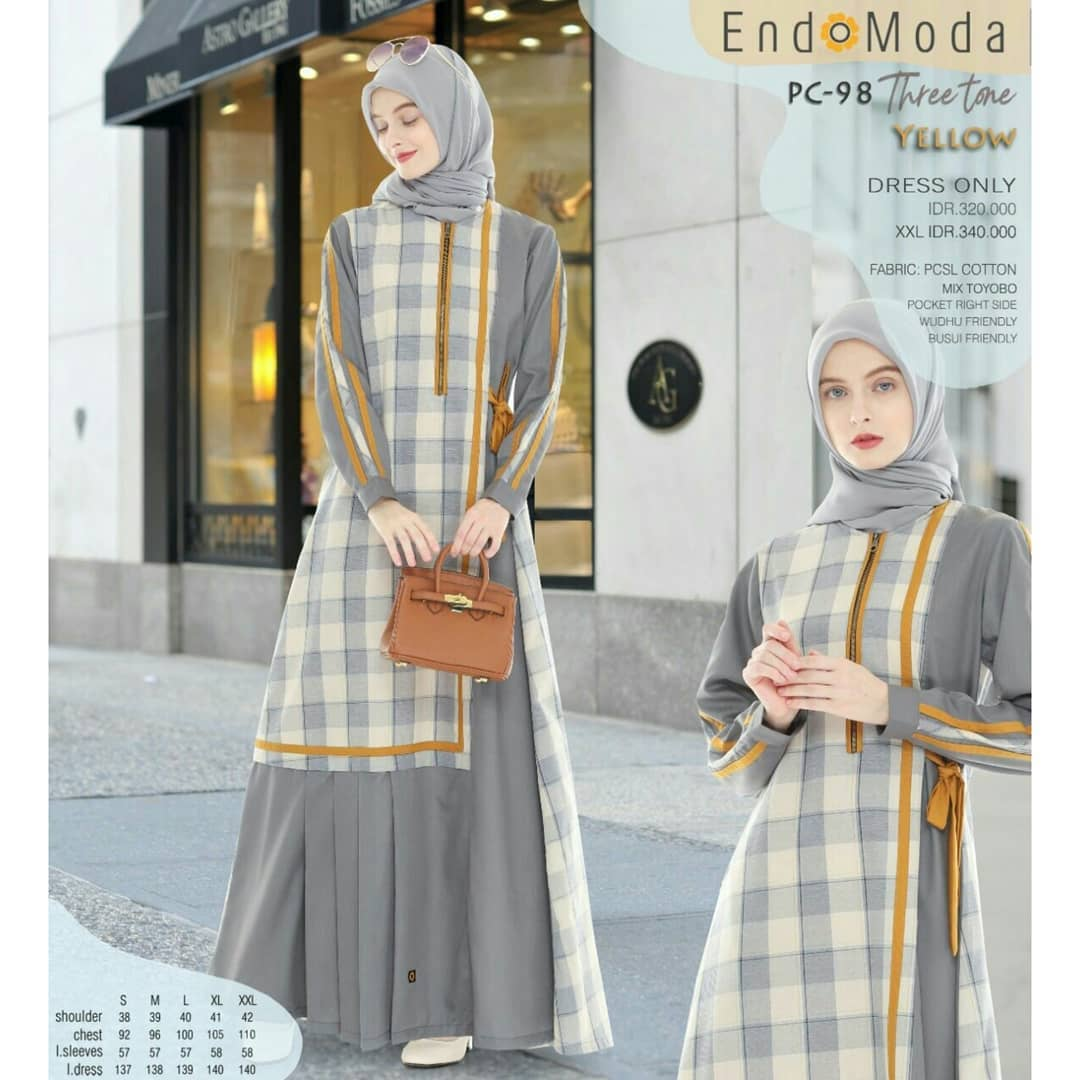 Gamis Endomoda TJ 98 Yellow