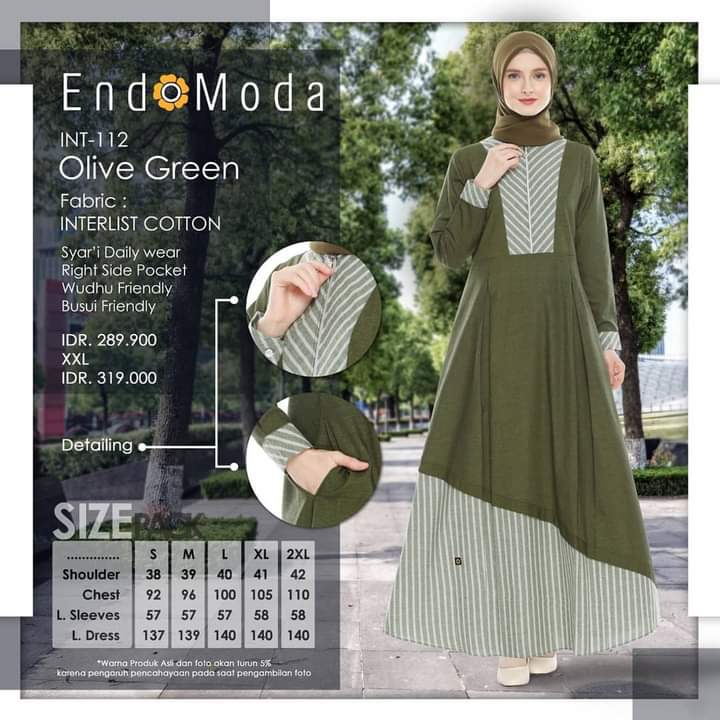 Gamis Endomoda INT 112 Olive Green