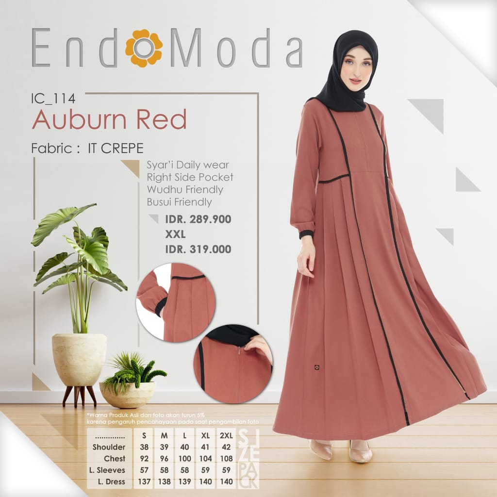 Gamis Endomoda IC 114 Auburn Red