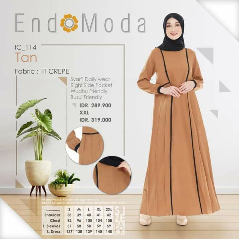 Gamis Endomoda IC 114 Tan