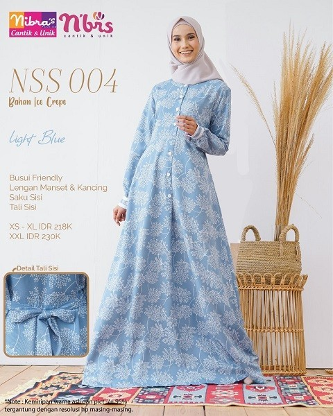 Gamis Nibras NSS 04 Light Blue