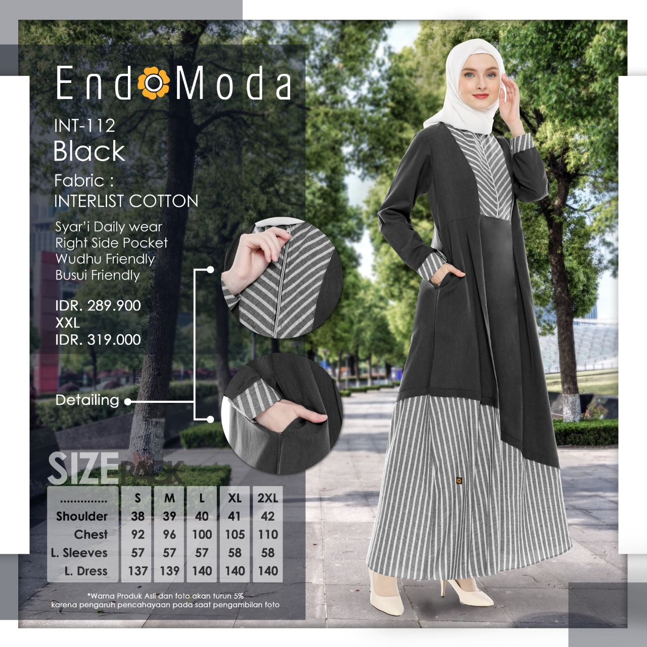Gamis Endomoda INT 112 Black